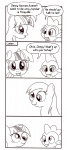 comic derpy_hooves dunkinbean grayscale lineart spike twilight_sparkle