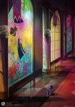 flowers highres princess_twilight stained_glass twilight_sparkle wine-misty