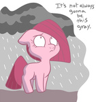 comic filly pinkamena_diane_pie pinkie_pie rain rock_farm technicolor_pie