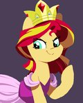 crown dress equestria_girls highres karzahnii sunset_shimmer