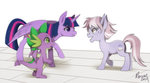 dusty_pages princess_twilight renciel spike twilight_sparkle
