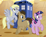 brian_blackberry crossover derpy_hooves doctor_who tardis time_turner twilight_sparkle