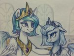 princess_celestia princess_luna tnthsu50 traditional_art