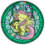akili-amethyst applejack bees bird bunny butterfly cutie_mark duck fluttershy main_six pinkie_pie rainbow_dash rarity stained_glass transparent twilight_sparkle