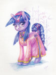 clothes dress highres maytee traditional_art twilight_sparkle