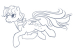 briskby derpy_hooves lineart retro sketch