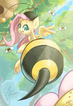 bees butt chingilin costume fluttershy highres