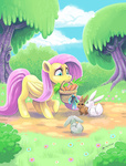 angel basket bunny fluro-knife fluttershy