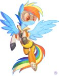 costume crossover overwatch rainbow_dash stasysolitude tracer
