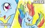 crossover dragon_ball_z macro rainbow_dash saiyan xanthestar
