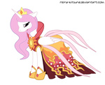 dress princess_celestia reina-kitsune transparent