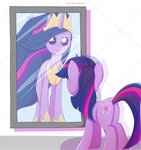 mirror nnaly princess_twilight reflection twilight_sparkle