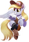 absurdres boots clothes derpy_hooves hat highres letter ncmares