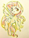 fluttershy highres sibashen traditional_art