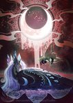 begasuslu highres nightmare_moon queen_chrysalis
