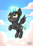cloud colt flying highres mysticalpha thunderlane