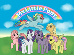 applejack fluttershy generation_leap main_six pinkie_pie rainbow_dash rarity retro theshadowrider123 twilight_sparkle