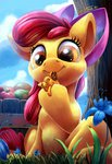 apple_bloom applejack apples appletini flowers highres little poison_joke tsitra360