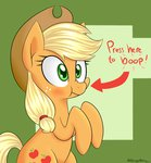 applejack boop highres notenoughapples scrunchy_face