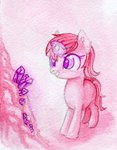 0okami-0ni absurdres amethyst_star background_ponies crystal filly highres magic traditional_art