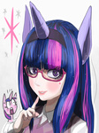 gashi-gashi glasses horn horse_ears humanized twilight_sparkle