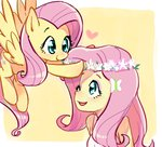 baekgup equestria_girls fluttershy humanized species_confusion