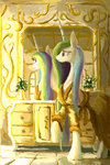 highres mirror plainoasis princess_celestia reflection