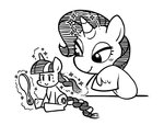 cuteosphere lineart little lowres magic manecut mirror rarity twilight_sparkle