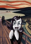 edvard_munch expressionism fluttershy highres livestream parody photo_finish rarity spectralunicorn the_scream