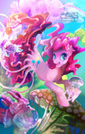 highres jellyfish kozzdraw merponies pinkie_pie species_confusion underwater