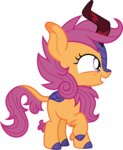 cloudyglow highres kirin scootaloo species_swap vector