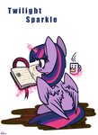 amy-gamy book highres magic mug princess_twilight twilight_sparkle