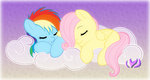 cloud filly fluttershy rainbow_dash raininess sleeping