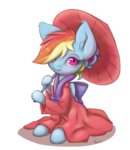 alasou kimono_(clothing) rainbow_dash transparent umbrella