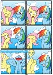 burp comic fluttershy highres otakon7 rainbow_dash