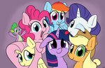absurdres applejack fluttershy highres main_six pinkie_pie rainbow_dash rarity spike taurson twilight_sparkle