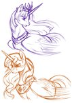 absurdres alicorn highres oblivionheart13 princess sketch sunset_shimmer
