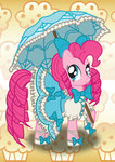 bonniepink dress highres pinkie_pie umbrella