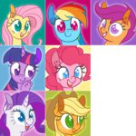 applejack fluttershy main_six pinkie_pie ponett rainbow_dash rarity scootaloo twilight_sparkle