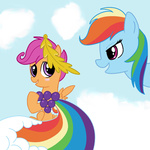 dress gala_dress madmax rainbow_dash scootaloo