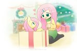 anime anime_as_fuck christmas fluttershy highres howxu humanized species_confusion