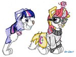 dog moondancer silversimba01 species_swap traditional_art twilight_barkle twilight_sparkle