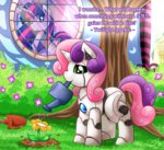 flowers highres princess_twilight robot sweetie_belle twilight_sparkle vavacung watering_can