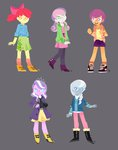 absurdres apple_bloom cutie_mark_crusaders diamond_tiara equestria_girls highres humanized magneticskye scootaloo silver_spoon sweetie_belle