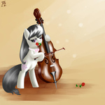 bipedal cello flowers i_shall_not_use_my_hooves_as_hands instrument jesrartes octavia_melody rose_(flower)