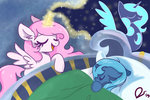 absurdres dreamscapevalley highres princess_celestia princess_luna sleeping woona young