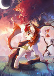 autumn_blaze highres kirin makaronder moon tree