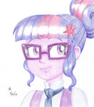 equestria_girls glasses humanized mayorlight traditional_art twilight_sparkle