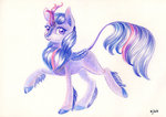 kirin maytee species_swap traditional_art twilight_sparkle