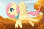 0okami-0ni autumn fluttershy highres scarf tree